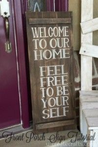 DIY Pallet sign Ideas - DIY Pallet Welcome Sign  -  Upcycled Pallet Art Cool Homemade Wall Art Ideas and Pallet Signs for Bedroom, Living Room, Patio and Porch. Creative Rustic Decor Ideas on A Budget http://diyjoy.com/diy-pallet-signs-ideas