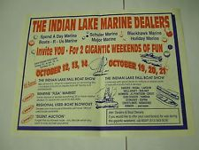 ADVERTISING Mailer for the 1991 BOAT SHOW, Indian Lake, Ohio