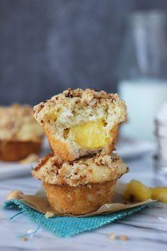 Pineapple Coconut Banana Muffins