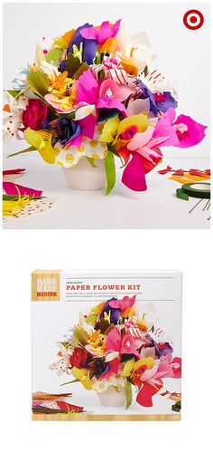 No watering required! With the Petal Pusher Paper Flower Kit, you can craft your own bouquets, as well as corsages and boutonnieres, using die-cut petal and leaf shapes. The entire line of Hand Made Modern products by designer Todd Oldham makes DIY as easy as pie.
