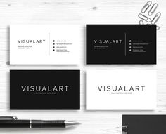 Printable Minimalist Business Card Template | INSTANT DOWNLOAD | by AliDesignShop on Etsy