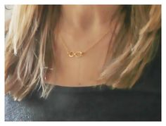 Infinity necklace, personalized infinity necklace, gold infinity, gold necklace, dainty infinity necklace, gold small infinity necklace, by BeaucoupdeBeads on Etsy