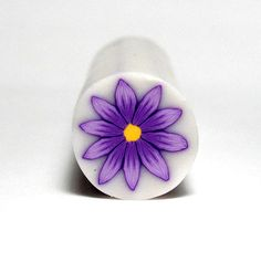 Purple  Daisy polymer clay flower cane by sigalsart on Etsy, $6.90