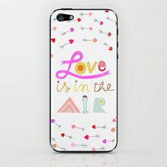 Love Is In The Air iPhone  iPod Skin by Artipi - $15.00 cases and skins for iphones and samsung cell phones  ♥♥♥♥♥♥ #love #arrows #hearts #valentine #cupid