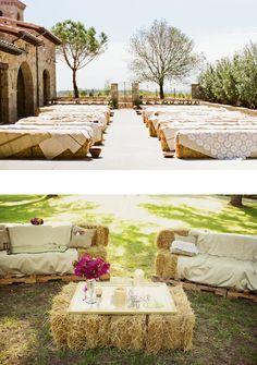Cérémonie champêtre Tous les accessoires qu'il vous faut pour votre mariage champêtre ! Les bottes de pailles Pour réaliser des bancs (aussi bien pour une cérémonied'extérieurque pour décor…
