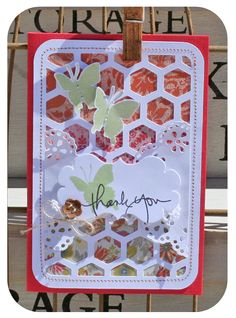 Hexagons cut with Cameo.  Thank you pinterest card danni reid