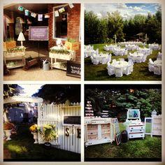 Backyard shabby chic wedding decorations summer 2013
