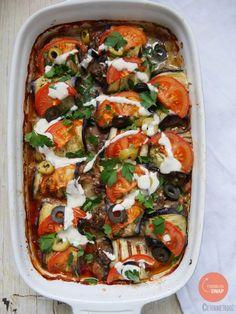 Köfte met aubergine en een tahini sausje - Eten met Roos