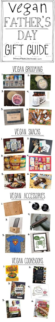 Vegan Fathers Day Gift Guide. A shopping collection of cruelty free gifts for the dads in the world. Vegan or not these are great finds.