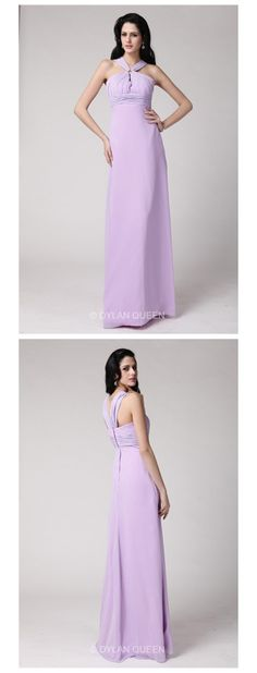 2015#dylanqueen Lavender &halter evening dress