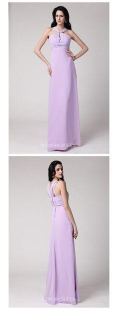 2015#dylanqueen Lavender &halter evening dress