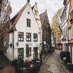 In quaint Bremen, Germany.