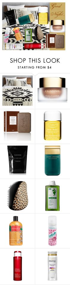 """""""Good Night..."""" by beautyqueenxcx on Polyvore featuring beauty, CB2, Clarins, Fresh, Cleanse by Lauren Napier, Marc Jacobs, Tangle Teezer, Klorane, philosophy and Batiste"""