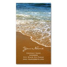 Beach Business Cards. I love this design! It is available for customization or ready to buy as is. All you need is to add your business info to this template then place the order. It will ship within 24 hours. Just click the image to make your own!