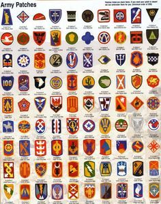 Military wwii us army unit emblems http en wikipedia org