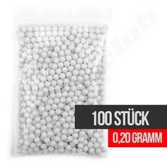 100 Umarex Softair BB / 0,20 Gramm / Kaliber 6 mm / weiß / Sackware