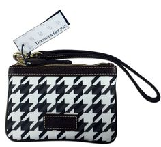 Dooney & Bourke Brown and White Leather Trimmed Wallet