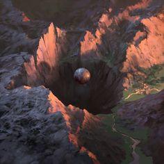 Pit of Oblivion, Noah Bradley on ArtStation at https://www.artstation.com/artwork/pit-of-oblivion