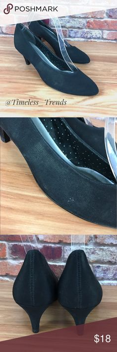 Black fabric pumps by nightlife Overall excellent condition. Heel height 2 1/2 inches. Color black. night life Shoes Heels