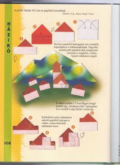 huizen vouwen met kleuters
