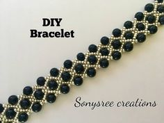 Gorgeous Beaded Bracelet ( One Needle Method) - YouTube