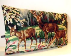 UNIQUE French Vintage Silk Needlepoint Tapestry by Retrocollects, £35.00