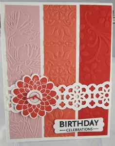embossed stripes by Carol Payne - love the layout and the colors.