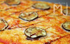 Pizza de berenjena caramelizada con parmesano y Módena / Pizza with caramelized aubergine parmesan and Modena