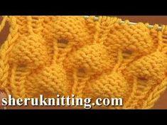 Knitting Strawberry Stitch Pattern Tutorial 13 Knit Stitch Pattern Library - YouTube