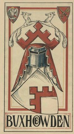 von Buxhoevden (German) -- Baltischer Wappen-Calendar 1902 (Baltic States Coats of Arms Calendar) published in Riga by E Bruhns with illustrations by M. Kortmann.