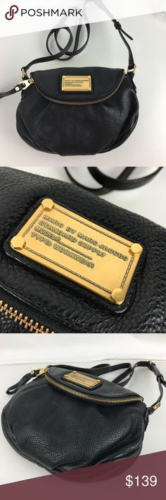 """Marc Jacobs Classic Q Mini Natasha Cross Body Authentic. New, no tag. Includes Care Card.  An effortlessly stylish leather crossbody from MARC BY MARC JACOBS. Front flap with zip closure and hidden magnetic snap closur. Interior zip pocket, 2 interior slip pockets. 10.5""""W x 3""""D x 9.5""""H; 20.5"""" strap drop. Style M0001408. RB534.  Thank you for your interest!  PLEASE - NO TRADES / NO LOW BALL OFFERS / NO OFFERS IN COMMENTS - USE THE OFFER LINK Marc by Marc Jacobs Bags Crossbody Bags"""