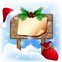 CHRISTMAS BLANK SIGN