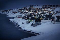 Beautiful villages myggedalen village greenland