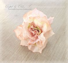 PUNCHED TISSUE PAPER FLOWER .. MAY BE ABLE TO HAND CUT... Crafting Life's Pieces: Tissue Wrapping Paper Flower Tutorial