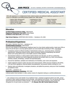 Resume Examples Example Of Medical Assistant Resume Regular Medical  Assistantu2026