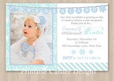 Winter ONEderland Birthday Invitation  Custom by printablecandee, $10.00