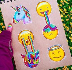 Imagen de emoji, drawing, and unicorn
