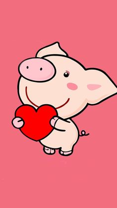 Pig Holding Heart