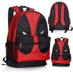 Girl boy student game Teenager Marca Mochila Escolar red x-man Deadpool backpack marvel comics superheros shoulder school bag Backpack Travel Bag, Canvas Backpack, Travel Bags, Travel Handbags, Black Backpack School, Marvel Comics, Film X, Tsumtsum, Red Bags
