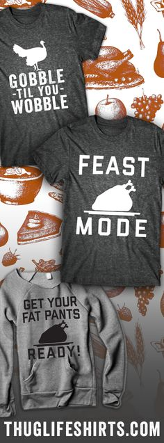 Shop our favorite Thanksgiving and Holiday Designs, featured on sweaters and t-shirts. Just in time for the season!