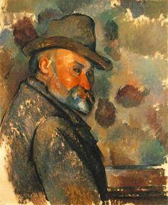 Self-Portrait in a Felt Hat - Paul Cezanne