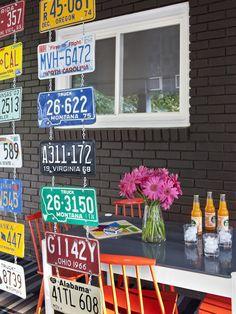 License plates.