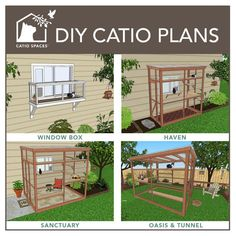 Build your own catio with these easy to follow DIY catio plans. You don't even need to be an experienced carpenter!