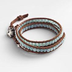 Amazonite Wrap Bracelet | National Geographic Store