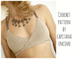 PDF-file for Crochet PATTERN, Aliyah Crochet Bikini Top Sizes XS-L by CapitanaUncino on Etsy