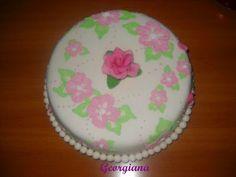 Tort cu flori. Just Cooking, Desserts, Tailgate Desserts, Deserts, Postres, Dessert, Plated Desserts