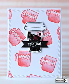 Pieces by Emily: Summer Coffee Lovers and Pretty Pink Post Watercolor Blog Hops