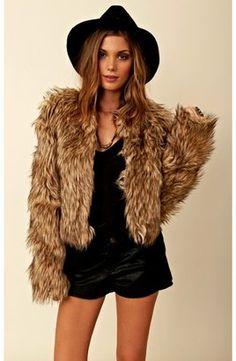 ShopStyle: bb dakota Pele Coyote Faux Fur Jacket