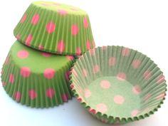 Polka dot cupcake liners