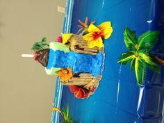 Hawaiian/Luau Birthday Cake